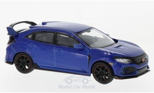 Honda Civic 1/64 Mini GT Type R (FK8) metallise bleue miniature