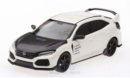 Honda Civic 1/64 Mini GT Type R (FK8) blanche/carbon miniature