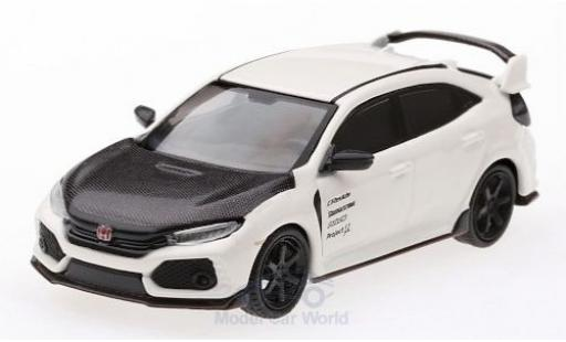 Honda Civic 1/64 Mini GT Type R (FK8) blanche/carbon RHD miniature