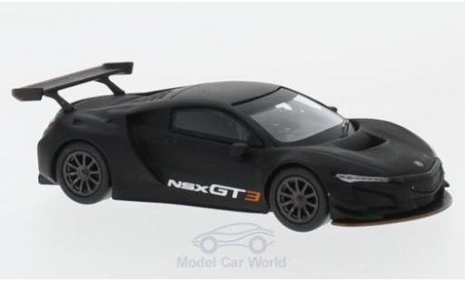 Honda NSX 1/64 Mini GT GT3 matt-black 2017 Los Angeles Auto Show diecast