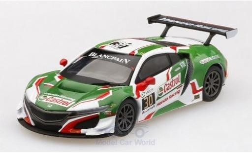 Honda NSX 1/64 Mini GT GT3 No.30 Castrol Racing Castrol 24h Spa 2018 R.Patrese/L.Depailler/E.Guerrieri/B.Baguette miniature