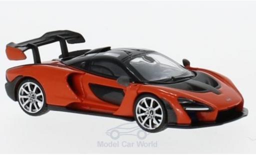 McLaren Senna 1/18 Mini GT orange miniature