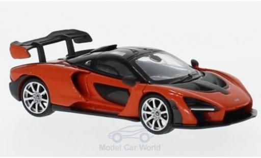 McLaren Senna 1/18 Mini GT orange RHD modellautos