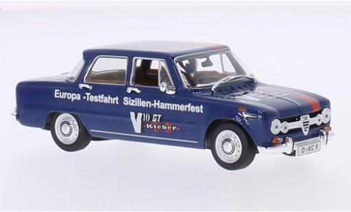 Alfa Romeo Giulia 1/43 Minichamps blue/Dekor 1970 Europe-Testfahrt Sizilien-Hammerfest diecast model cars