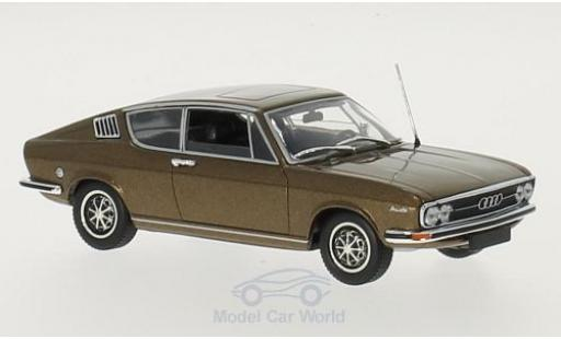 Audi 100 1/43 Minichamps Coupe metalico marron 1969 miniatura