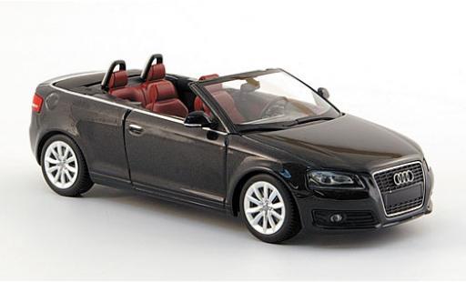 Audi A3 1/43 Minichamps Cabriolet metallise grise 2007 sans Vitrine miniature