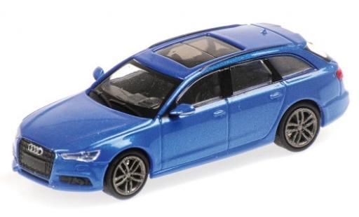 Audi A6 1/87 Minichamps Avant metallise blue 2018 diecast model cars