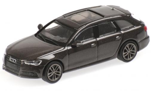 Audi A6 1/87 Minichamps Avant metallise marron 2018 miniature