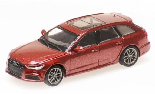 Audi A6 1/87 Minichamps Avant metallise red 2018 diecast model cars