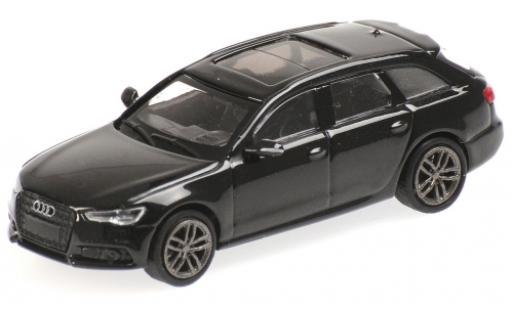 Audi A6 1/87 Minichamps Avant metallise black 2018 diecast model cars