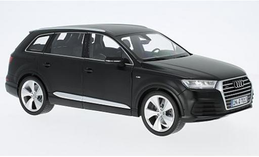Audi Q7 1/18 Minichamps matt-negro 2015 coche miniatura