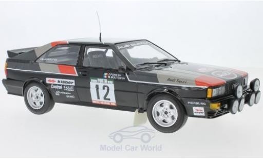 Audi Quattro 1/18 Minichamps quattro No.12 Sport Rallye WM Rallye Portugal 1981 M.Mouton/F.Pons miniature
