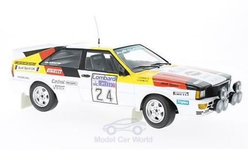 Audi Quattro 1/18 Minichamps quattro No.24 Sport Rallye WM RAC Rallye 1982 H.Demuth/J.Daniels miniature