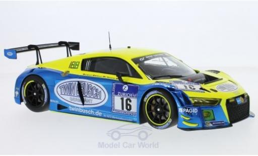 Audi R8 1/18 Minichamps LMS No.16 Twin Busch Motorsport 24h Nürburgring 2016 R.Rast/M.Busch/D.Busch/C.Mamerow diecast