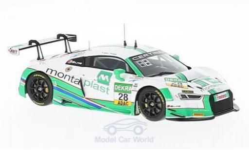 Audi R8 1/43 Minichamps LMS No.28 Montaplast by Land-Motorsport ADAC GT Masters 2016 C.Haase/S.Ortelli miniatura