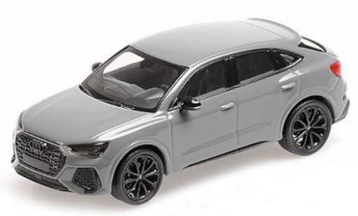 Audi RS Q3 1/43 Minichamps Sportback (F3) gris 2019 coche miniatura