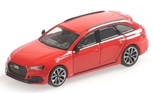 Audi RS4 1/87 Minichamps Avant (B9) metallise red 2018 diecast model cars