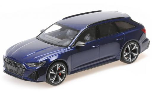 Audi RS6 1/43 Minichamps Avant (C8) metallise bleue 2019 miniature