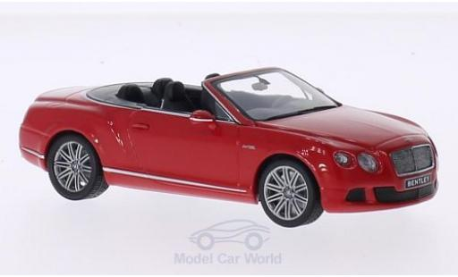 Bentley Continental 1/43 Minichamps GTC Speed red 2012 diecast model cars
