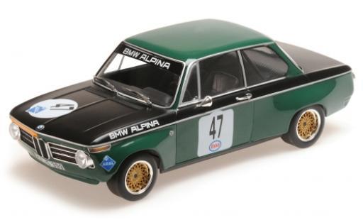 Bmw 1600 1/18 Minichamps -2 No.47 -Alpina Eifelrennen Nürburgring 1971 P.Meyer miniatura