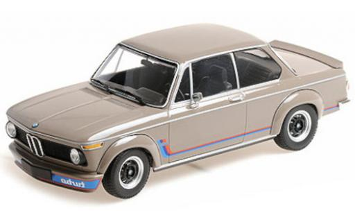 Bmw 2002 1/18 Minichamps Turbo beige/Dekor 1972 miniature