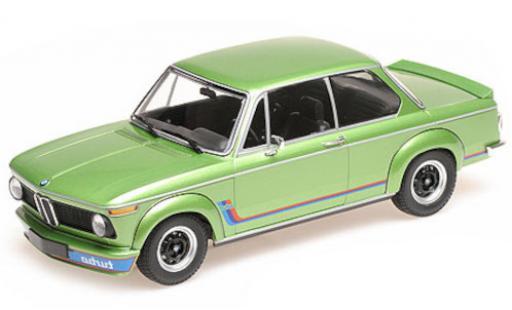 Bmw 2002 1/18 Minichamps Turbo metallise verte 1972 miniature