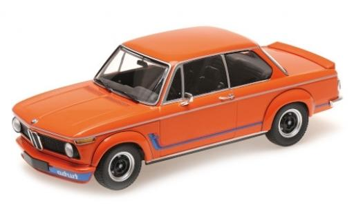 Bmw 2002 1/18 Minichamps Turbo orange/Dekor 1973 modellino in miniatura