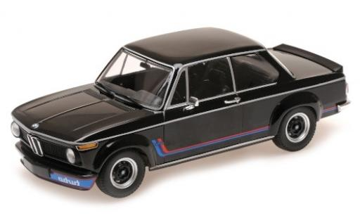 Bmw 2002 1/18 Minichamps Turbo black/Dekor 1973 diecast model cars