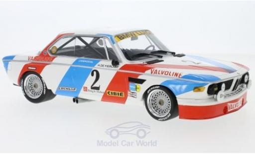 Bmw 3.0 S 1/18 Minichamps CL No.2 Luigi Racing 24h pa 1975 H.de Fierlant/J.Xhenceval diecast model cars