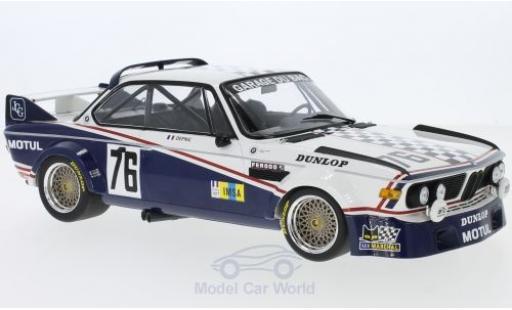 Bmw 3.0 S 1/18 Minichamps CL No.76 Garage Du Bac 24h Le Mans 1977 Depnic/J.Coulon miniature