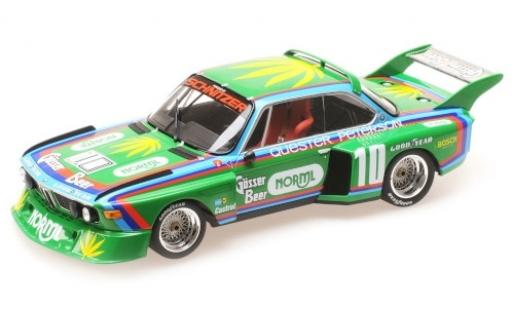 Bmw 3.5 1/18 Minichamps CSL No.10 -Schnitzer Gösser Beer 6h Watkins Glen 1976 D.Quester/R.Peterson miniature