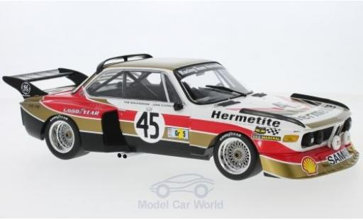 Bmw 3.5 1/18 Minichamps BMW CSL No.45 Hermetite Productions Ltd. 24h Le Mans 1976 J.Fitzpatrick/T.Walkinshaw miniature