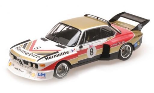 Bmw 3.5 1/18 Minichamps CSL No.8 Hermetite 1000 Km Nürburgring 1976 J.Fitzpatrick/T.Walkinshaw miniature