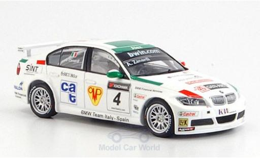 Bmw 320 WTCC 1/43 Minichamps Si No.4 2006 A.Zanardi diecast model cars