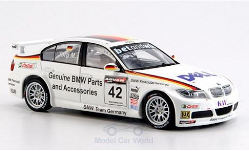 Bmw 320 WTCC 1/43 Minichamps Si No.42 2006 J.Müller diecast model cars