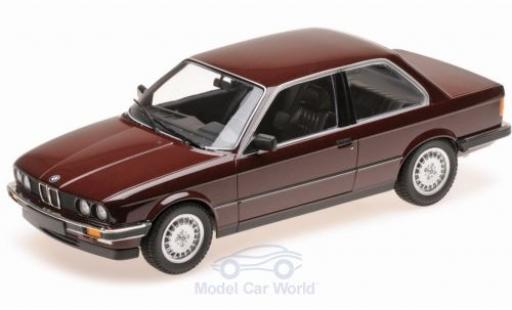 Bmw 323 1/18 Minichamps i (E30) metallise rouge 1982 miniature