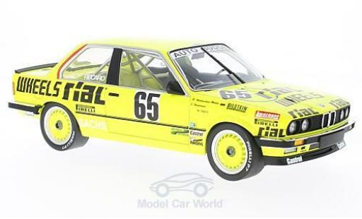 Bmw 325 1/18 Minichamps i No.65 Auto Budde Team Rial 24h Nürburgring 1986 J.Hamelmann/R.Walterscheid-Müller/M.Trint modellino in miniatura