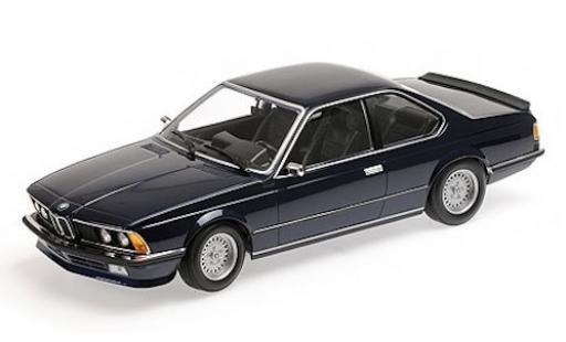 Bmw 635 CSI 1/18 Minichamps 635 CSi (E24) metallise blue 1982 diecast model cars