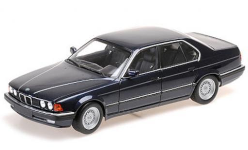 Bmw 730 1/18 Minichamps i (E32) metallise bleue 1986 miniature