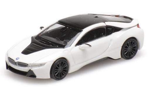 Bmw i8 1/87 Minichamps Coupe metallise white 2015 diecast model cars