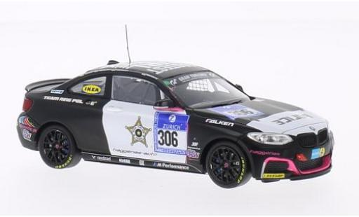 Bmw M235 1/43 Minichamps M 235i Racing No.306 Team Ring Police 24h Nürburgring 2014 A.Carlsson/J.Carlsson/Mühlenz/Slooten miniature
