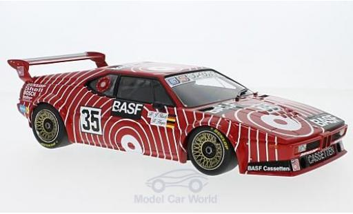 Bmw M1 1981 1/18 Minichamps BMW No.35 BASF Team GS Sport BASF 6h Silverstone 1981 H-J.Stuck/H.Heyer miniature