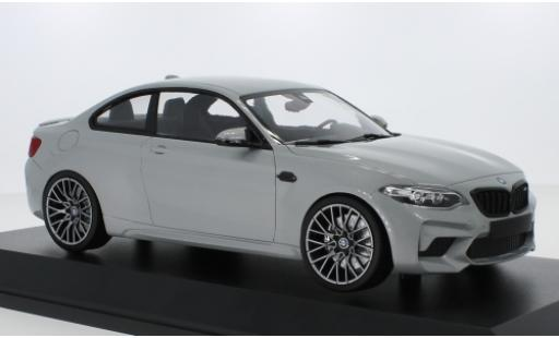 Bmw M2 1/18 Minichamps Competition (F22) grigio 2019 modellino in miniatura