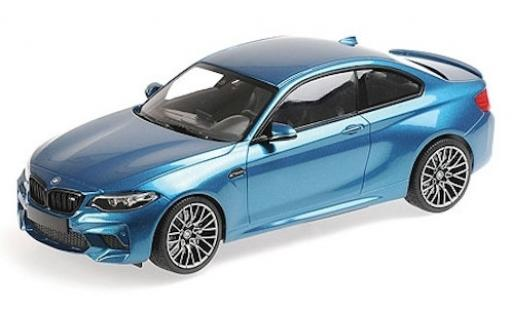 Bmw M2 1/18 Minichamps Competition metallise blu 2019 modellino in miniatura