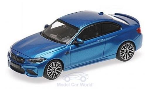 Bmw M2 1/43 Minichamps Competition metallise blue 2019 diecast model cars