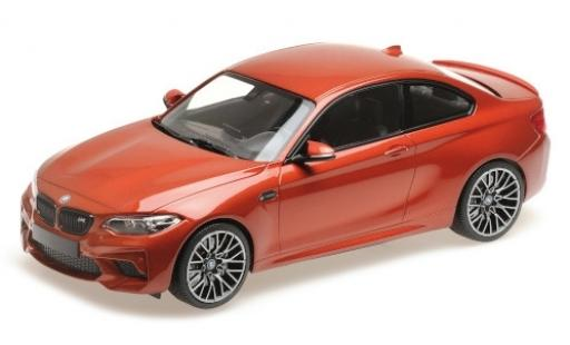 Bmw M2 1/18 Minichamps Competition metalico naranja 2019 miniatura