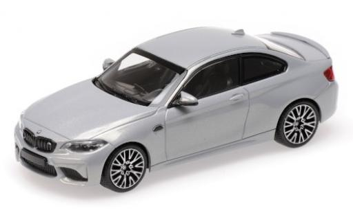 Bmw M2 1/43 Minichamps Competition metallise grey 2019 diecast model cars