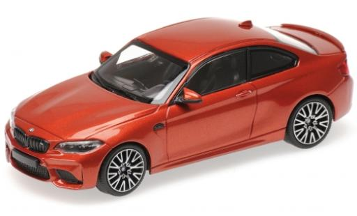 Bmw M2 1/43 Minichamps Competition metalico naranja 2019 miniatura