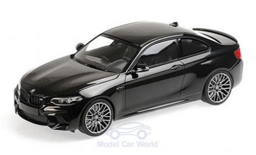 Bmw M2 1/18 Minichamps Competition metallise nero 2019 modellino in miniatura