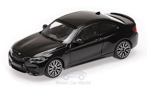 Bmw M2 1/43 Minichamps Competition metallise black 2019 diecast model cars